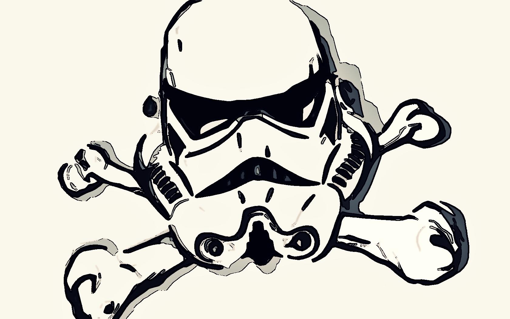 star wars stormtroopers skull and crossbones 940188 1680x1050
