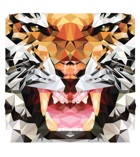 Geometric Animal Wallpaper The Art Mad Wallpapers 535x601