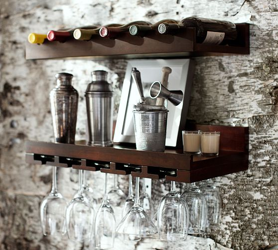 No room for a bar Mount all the your wine essentials on the wall 558x501
