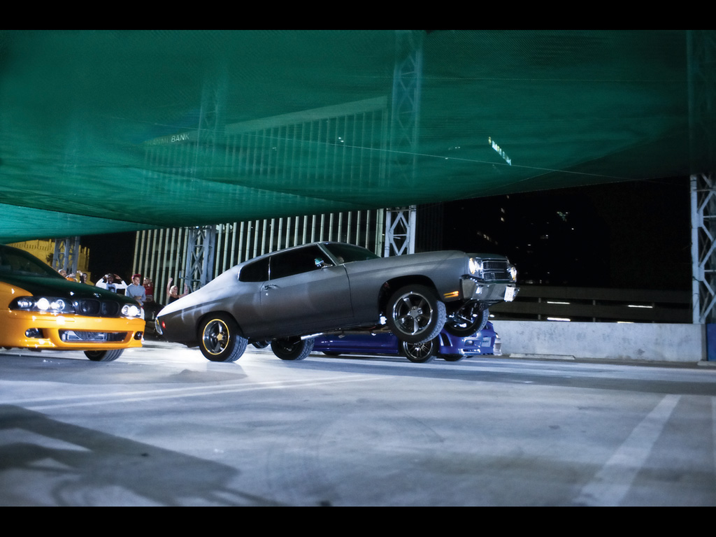 Fast Furious Movie Cars   Chevelle Wheelie   1024x768   Wallpaper 1024x768
