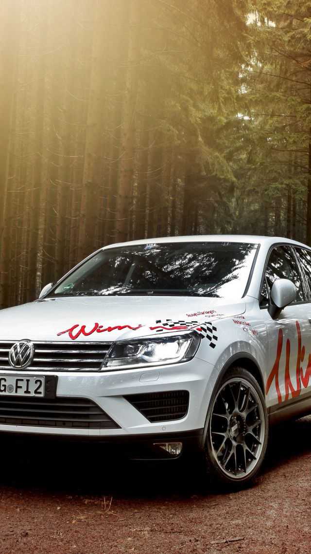 Wallpaper Wimmer RS Volkswagen Touareg wimmer white forest 640x1138