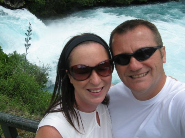 Pat and Jen at Huka Falls Photo 600x450