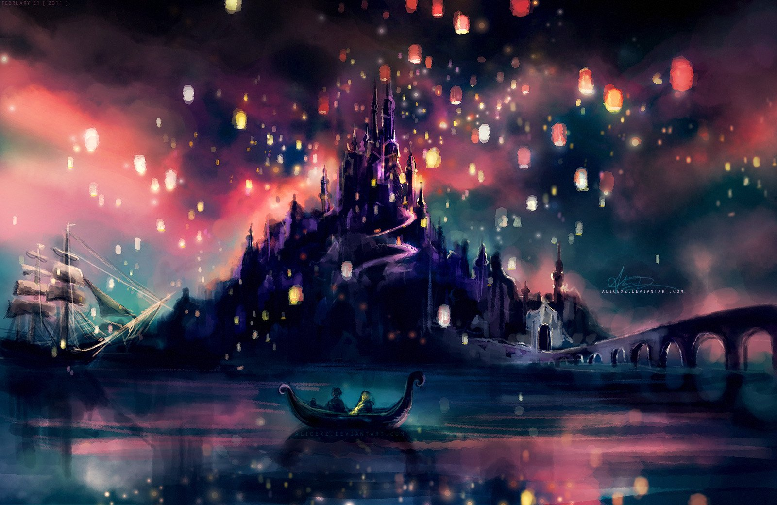 Disney Tangled the lights wallpapers for Disney tangled wallpaper 1600x1040