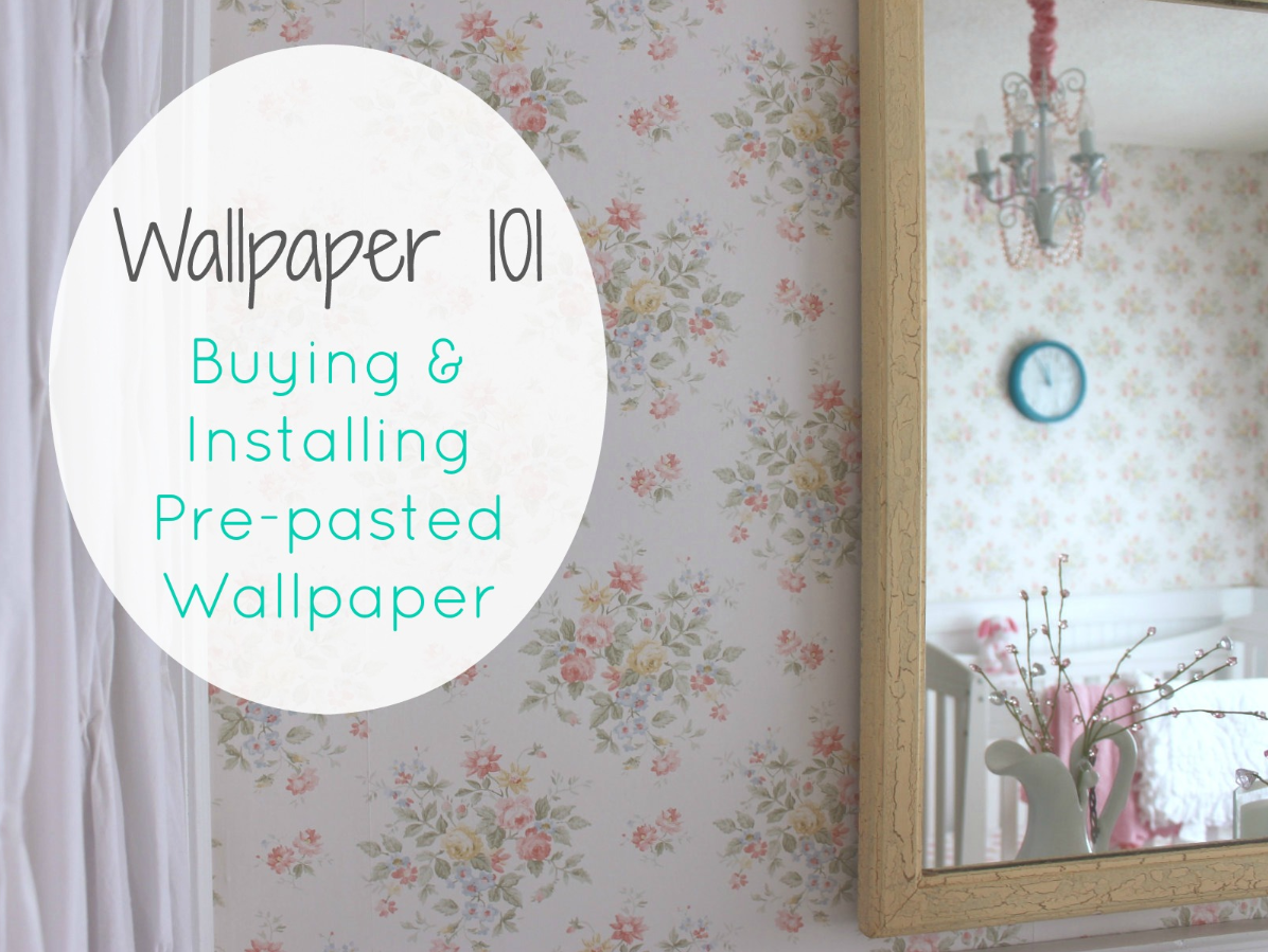 Wallpaper 101 Our Adventures How to Install Pre pasted Wallpaper 1196x899