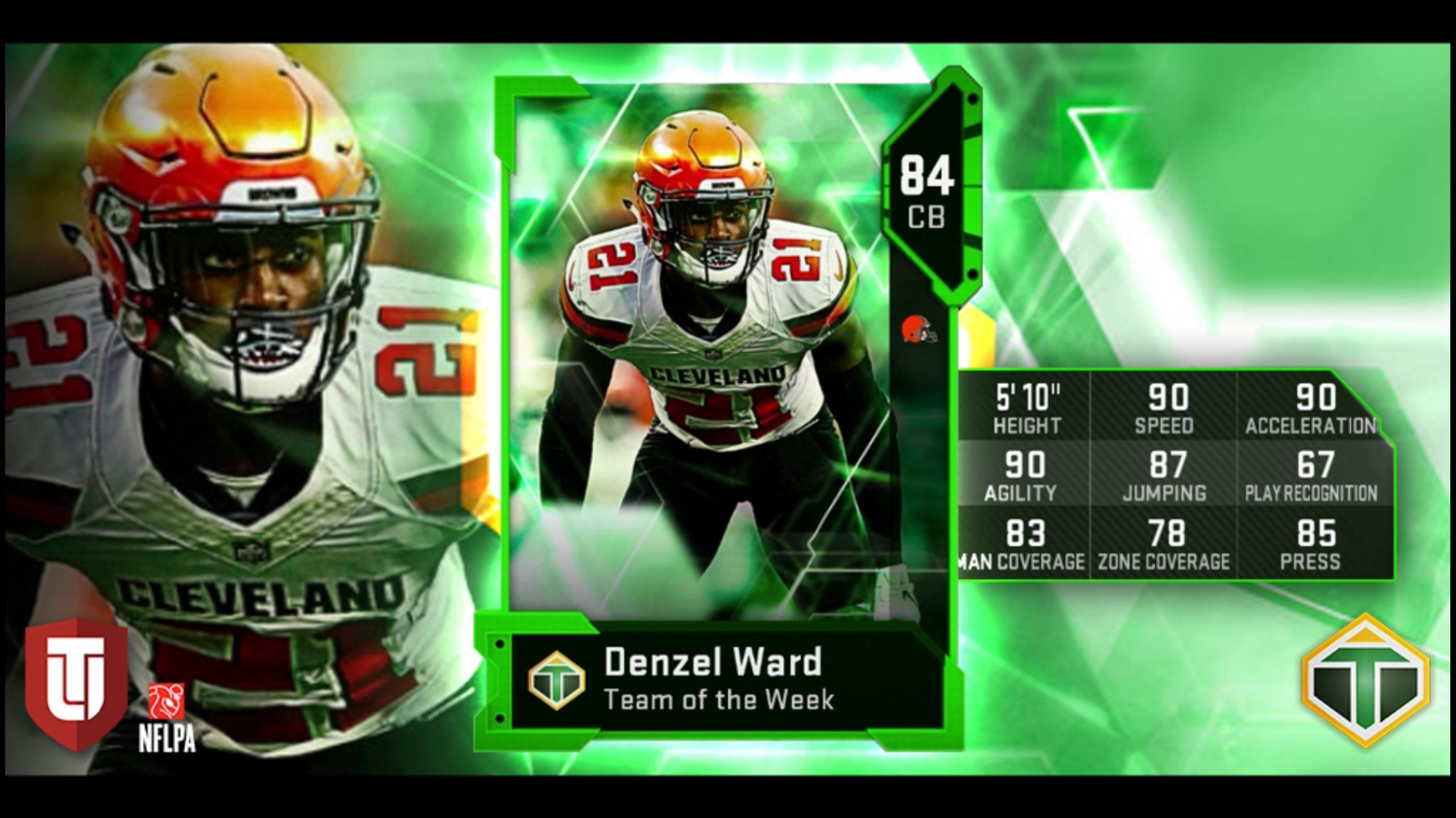 Denzel Ward MaddenUltimateTeam 2560x1440