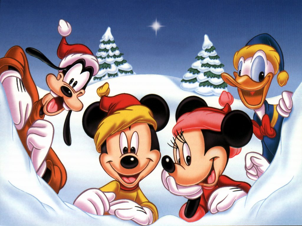 Mickey Minnie Donald and Goofy Christmas Wallpaper   Christmas 1024x768