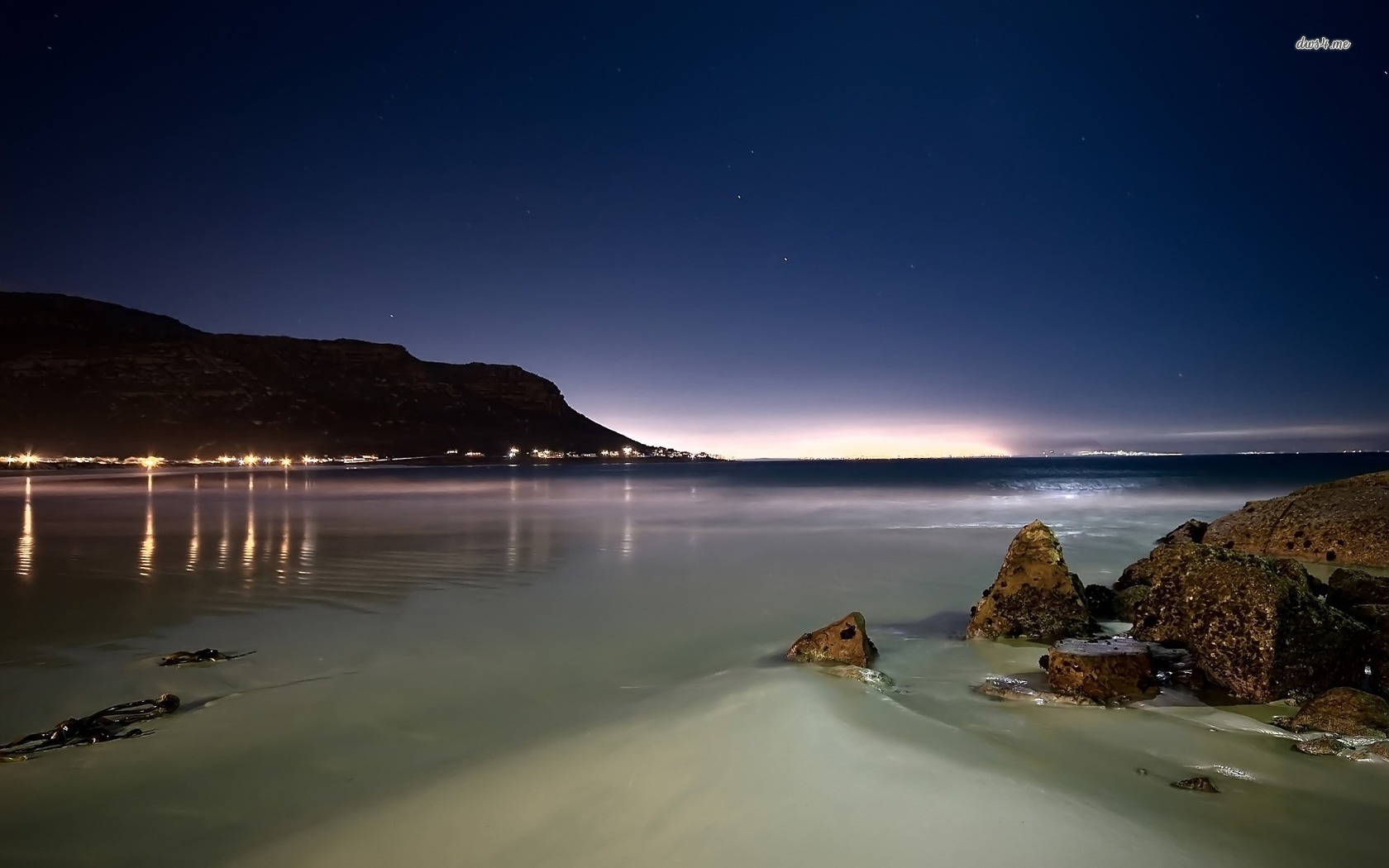 Beach at night wallpaper   Beach wallpapers   5029 1680x1050