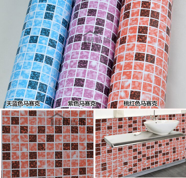 Adhesive Vinyl Wallpaper Mosaic Tile Border Sticker Kitchen Decor DIY 727x697