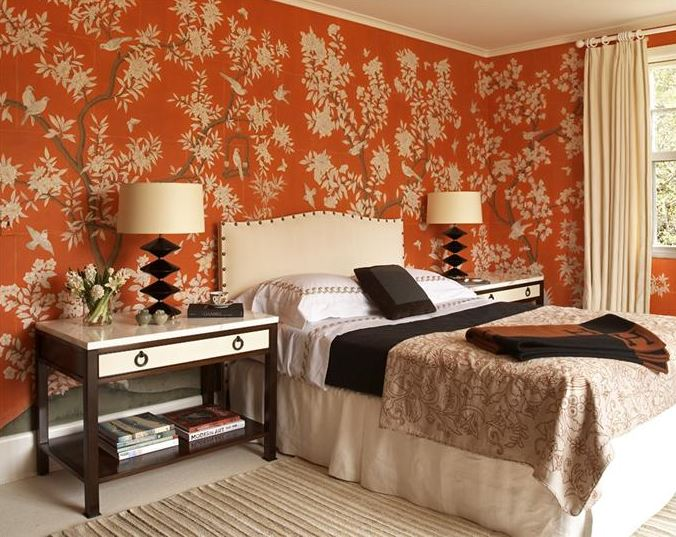 pretty things design orange trees wallpaper 676x537
