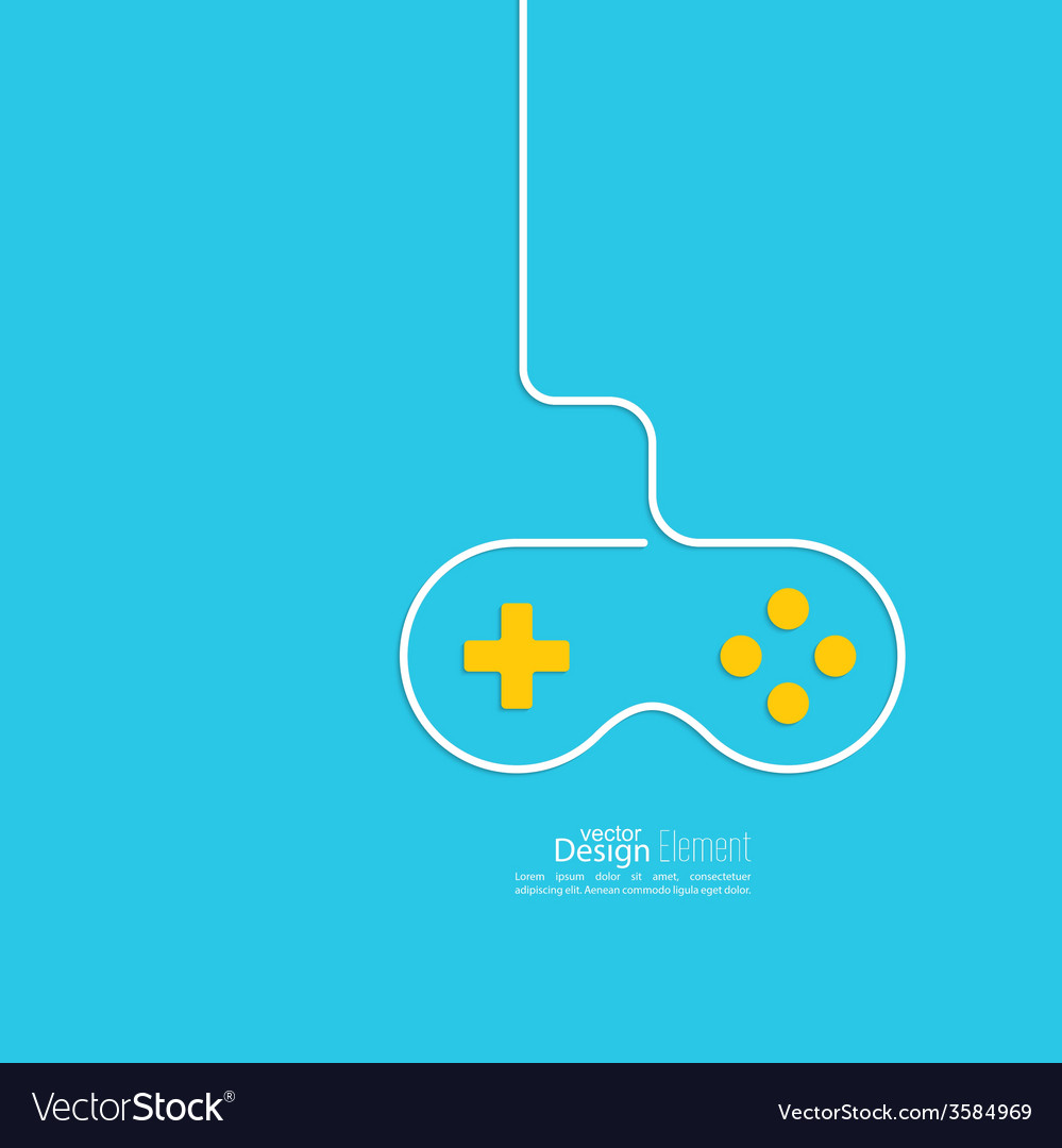 Game background wire and joystick Royalty Vector Image 999x1080