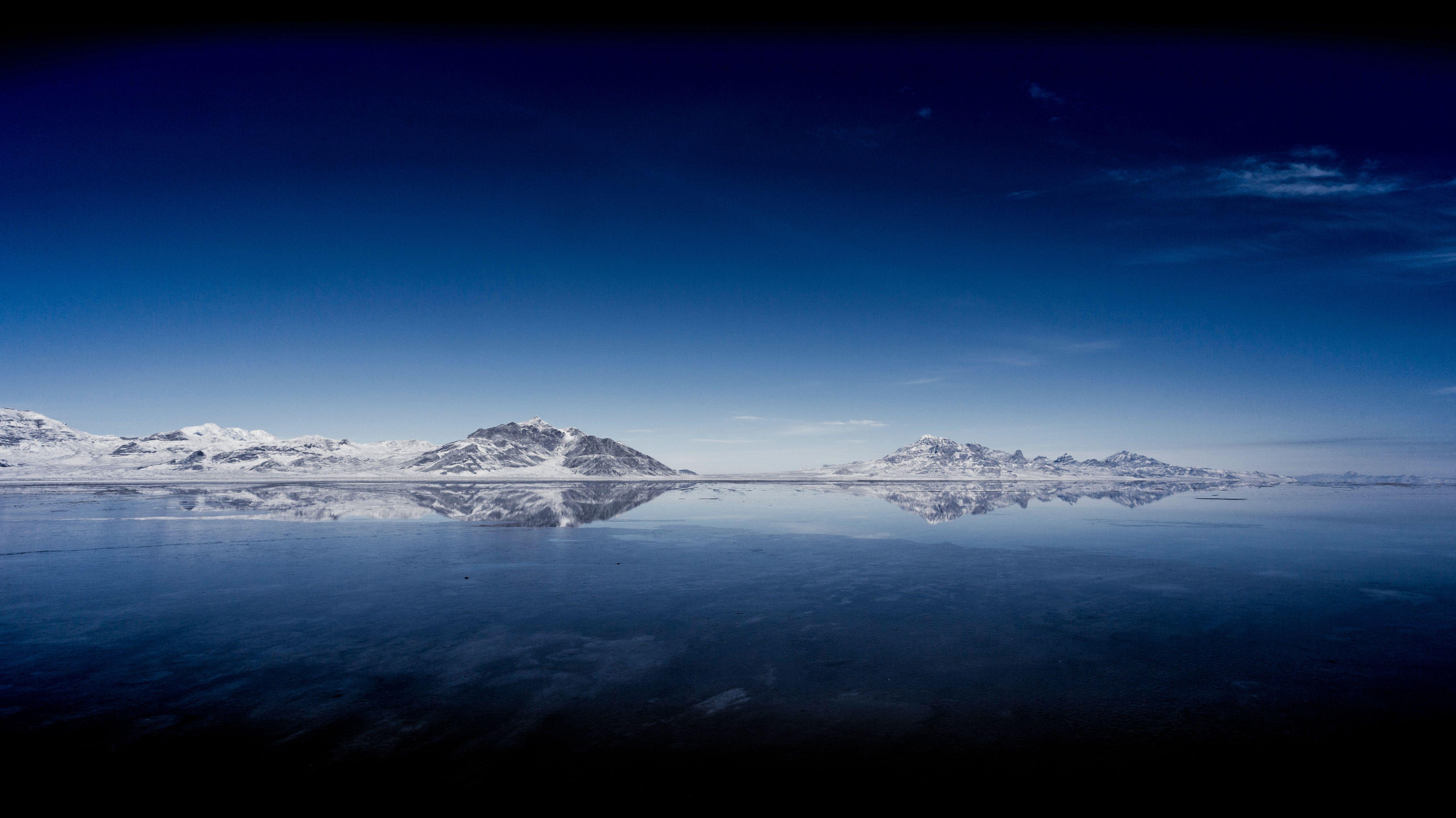 Bonneville Salt Flats Lake Travel 4k wallpaper download 5120x2880