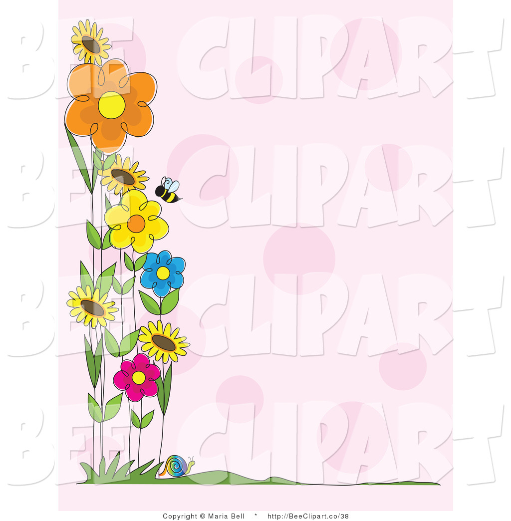Bees Clipart Border Royalty flower stock \x3cb\x3ebee\x3cb\x3e 1024x1044