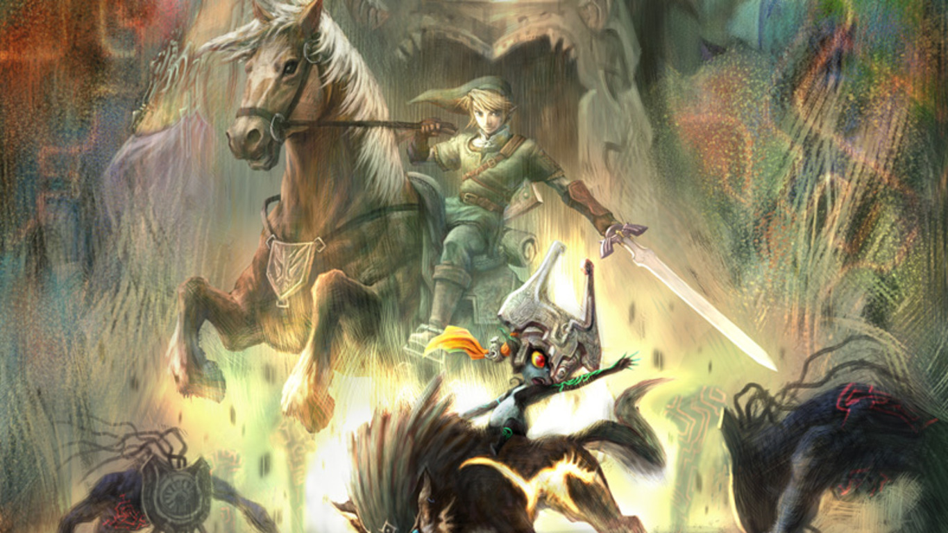 Video Game The Legend Of Zelda Twilight Princess Wallpaper 1366x768