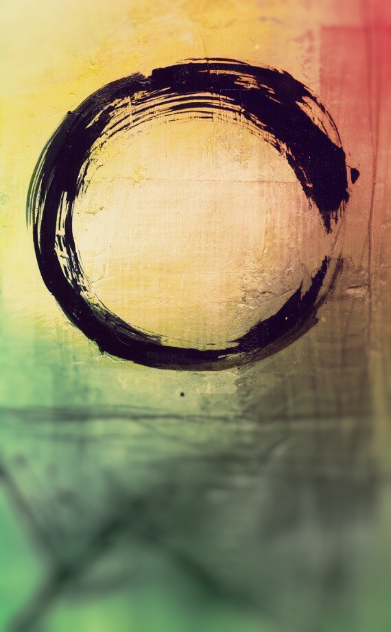 Zen iphone wallpaper Circle art Abstract Rainbow abstract painting