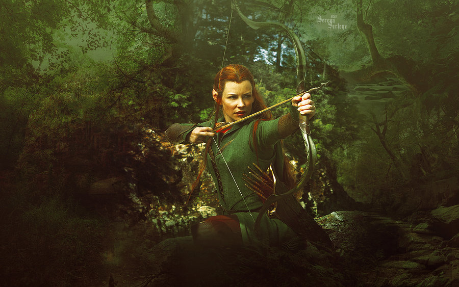 Tauriel Wallpaper Tauriel by serenaserlene 900x563
