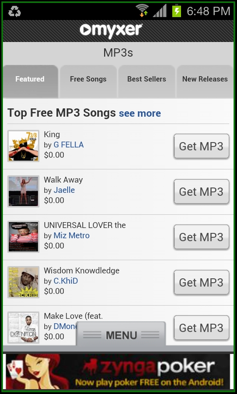 myxer free ringtones for iphone