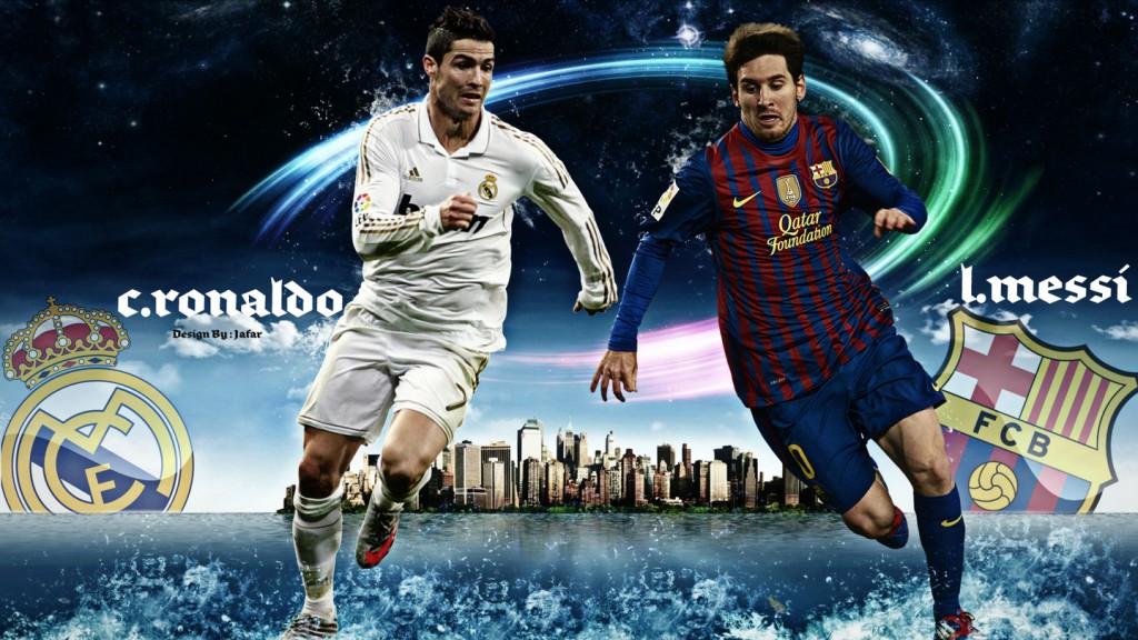 Cristiano Ronaldo Vs Lionel Messi 2015 Wallpapers 1024x576