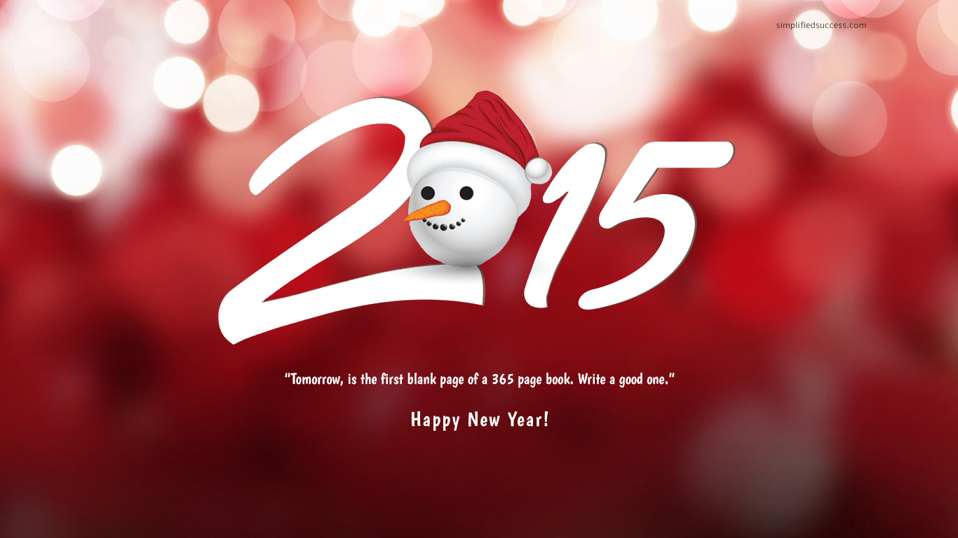 Happy New Year HD Wallpaper 2015 Download Download 1366x768