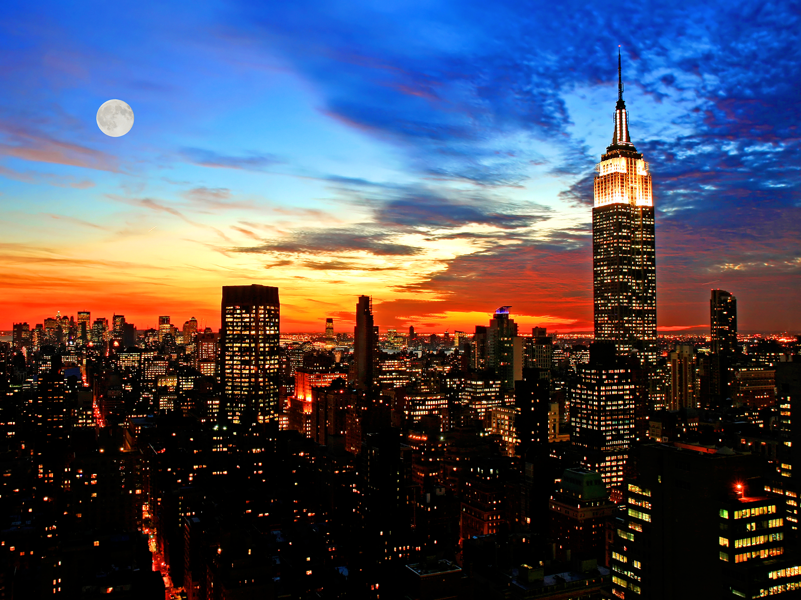 Full Moon Skyline New York wallpaper The Serious People May Cause 1600x1200