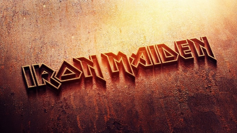 Current location Home Music Bands Iron maiden logo wallpaper 804x452