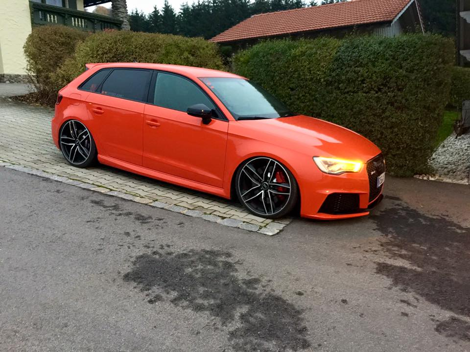 Audi RS3 8V Tuning Wide Body Kit and Lowered Suspension by 960x720