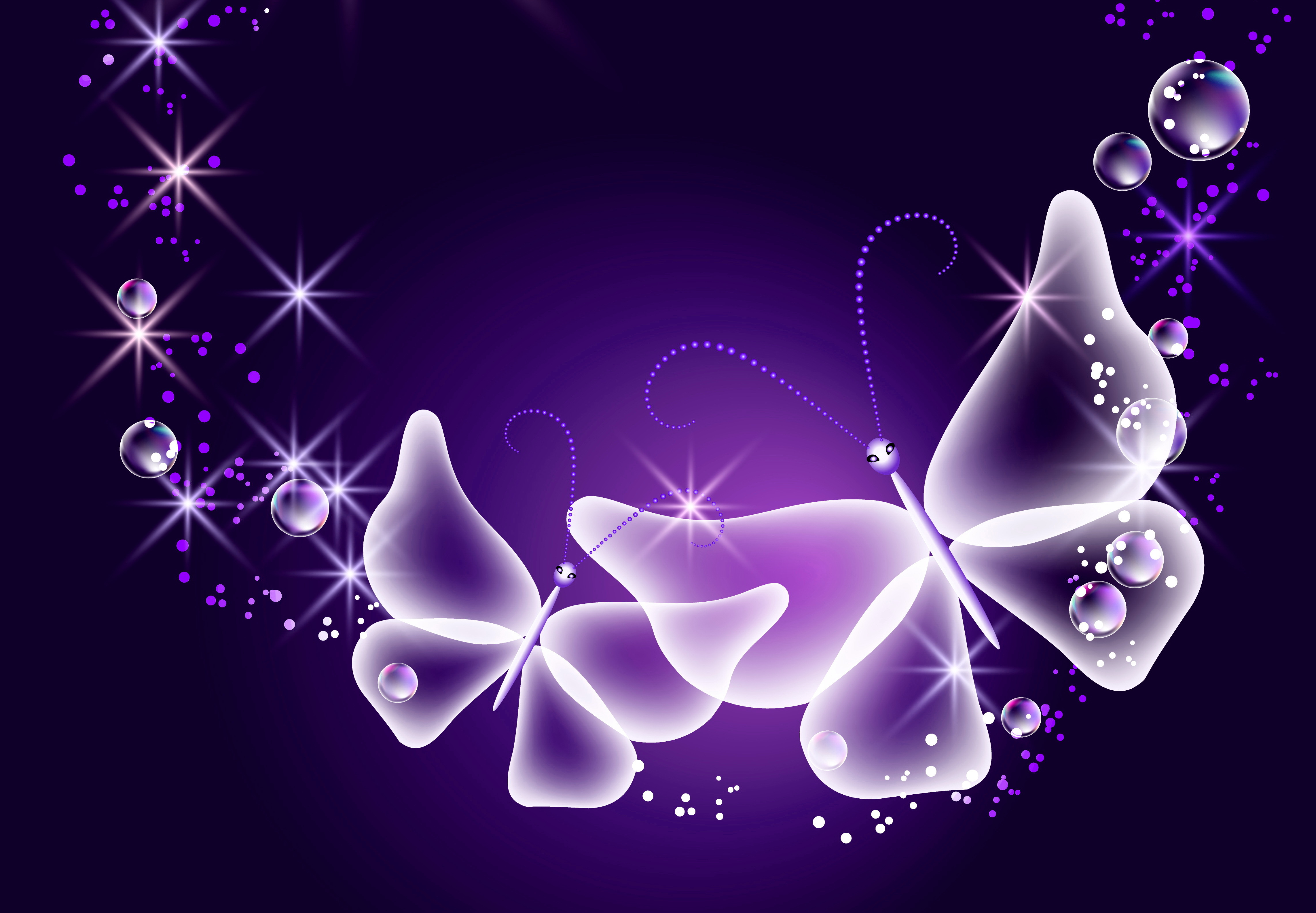 purple sparkle glow butterfly neon wallpapers photos pictures 4570x3170