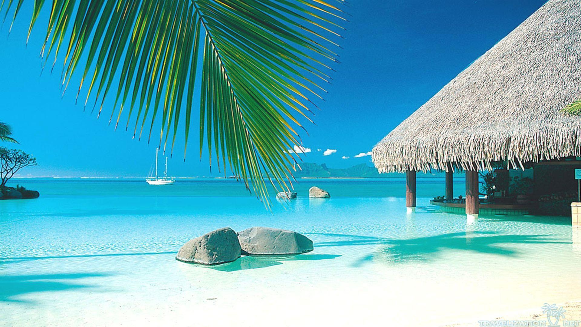 Tropical Paradise Beach Hd Wallpaper For Nexus 7 Screens: Tahiti Wallpaper HD