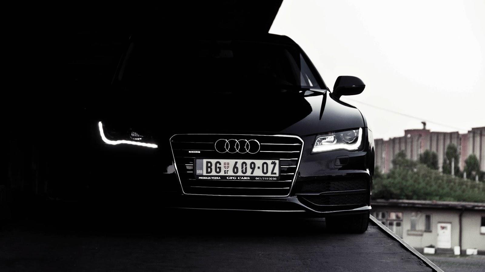 Black Audi A7 in Dark Headlights HD Wallpaper HD Car Wallpapers 1600x900