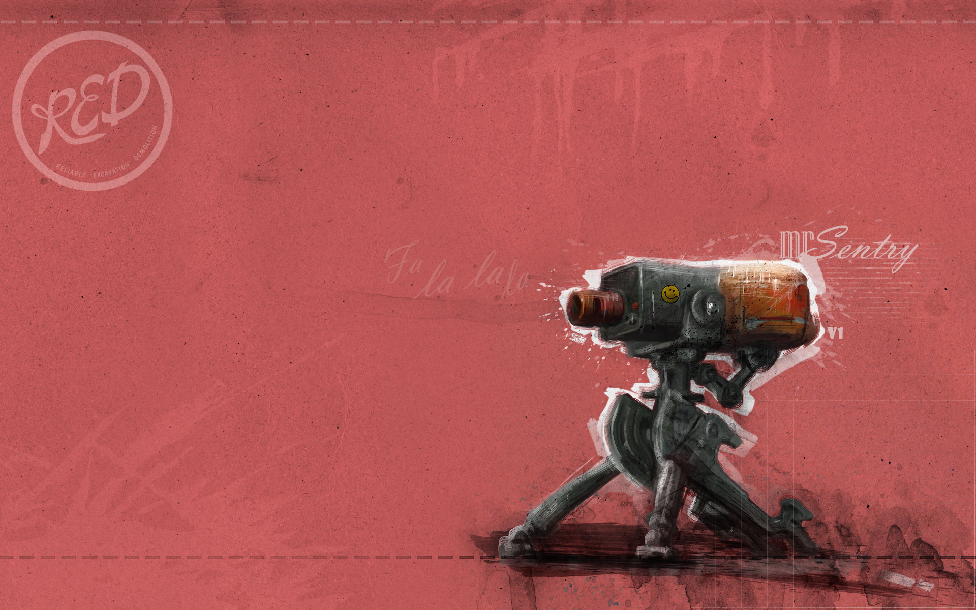 sentry tf2 team fortress 2 red HD Wallpaper   Architecture Design 1920x1200