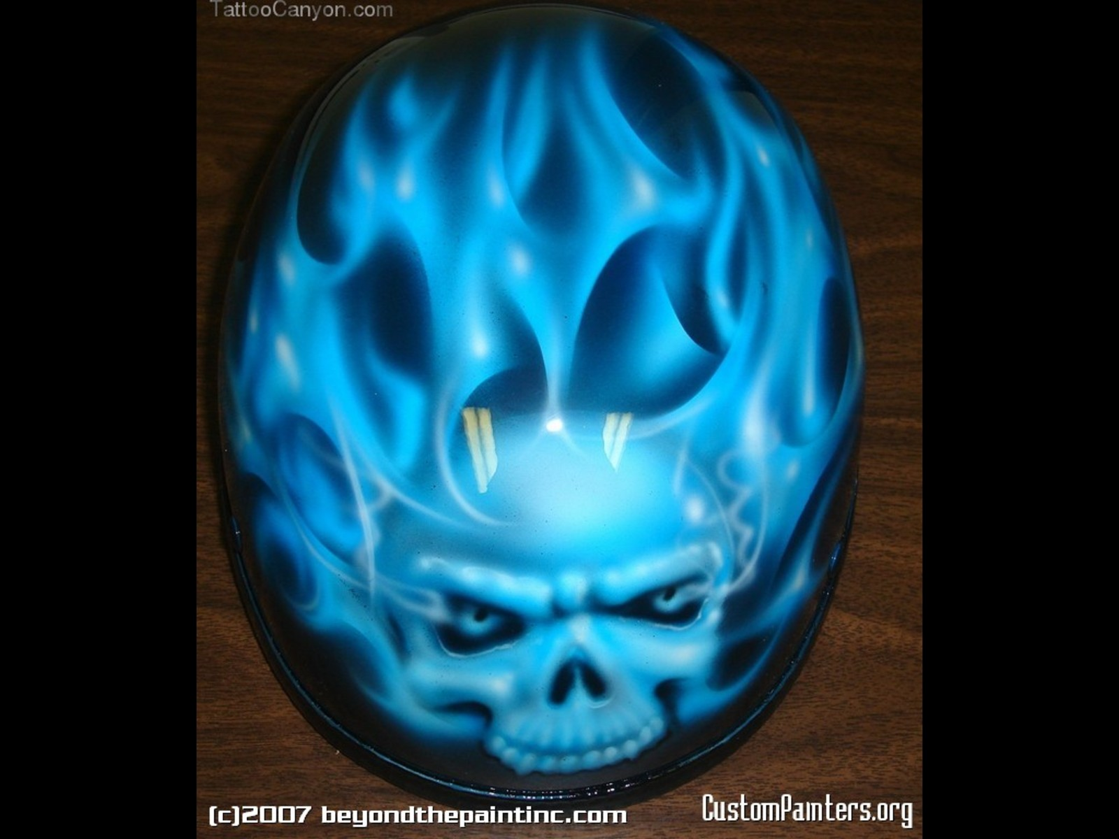 Blue Flaming Skull Wallpaper Picture 1600x1200