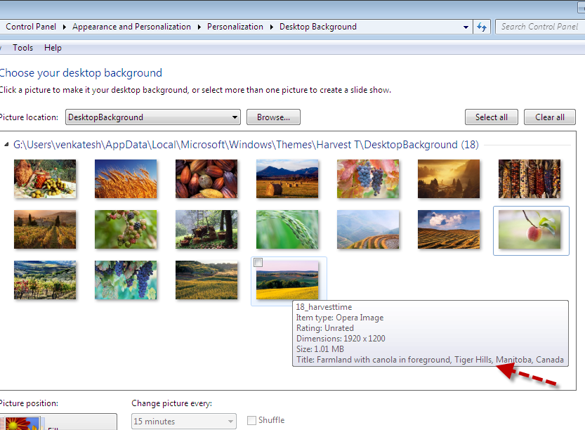 Find where Your Windows 7 Themes Wallpapers were Photographed 833x612