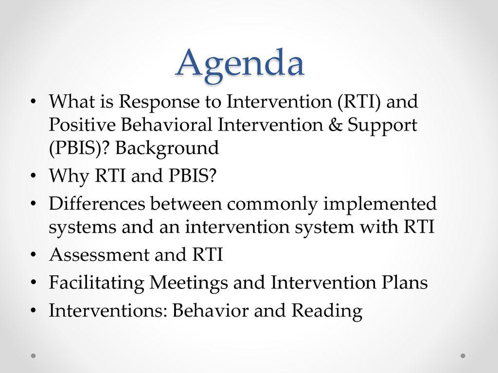 Response to Intervention Positive Behavioral Intervention 1024x768