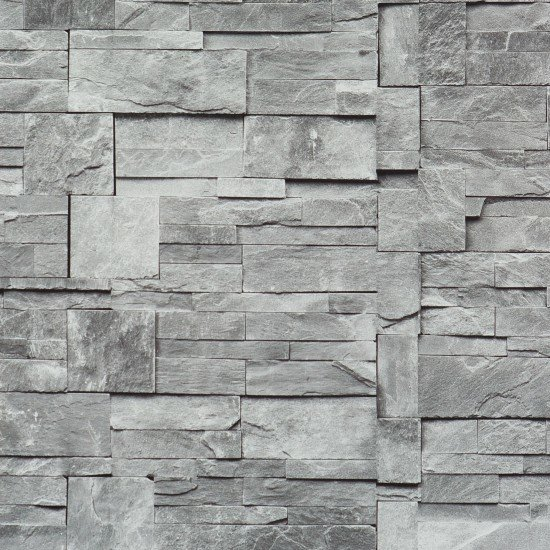 Faux Stone Wallpaper Grey Sample   Contemporary   Wallpaper   by 550x550
