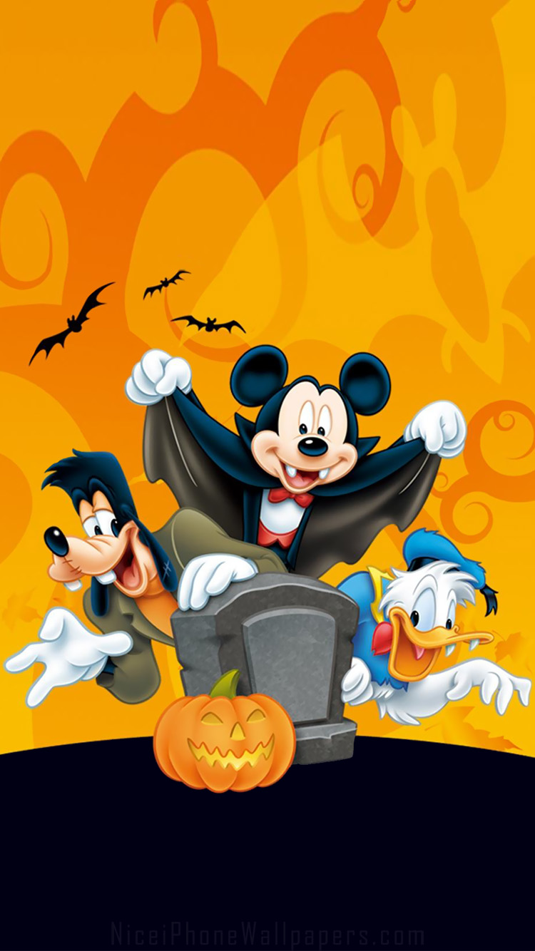 Charming Disney Halloween IPhone 66 Plus Wallpaper And Background 750x1334