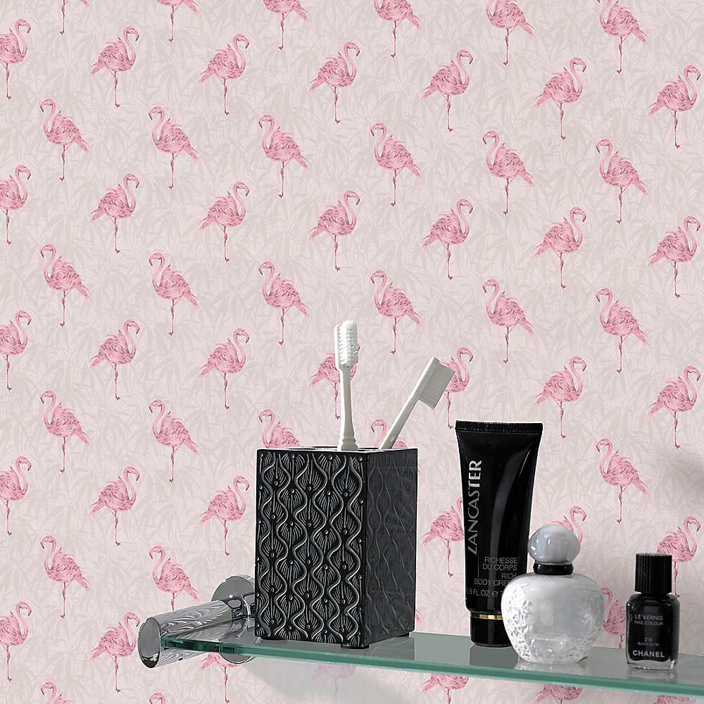 Graham Brown Flamingo Wallpaper   Pink Wallpaper House Garden 1000x1000