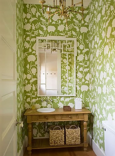 Tulips and Bliss Wednesdays Wallpaper Wonders In the Powder Room 377x512