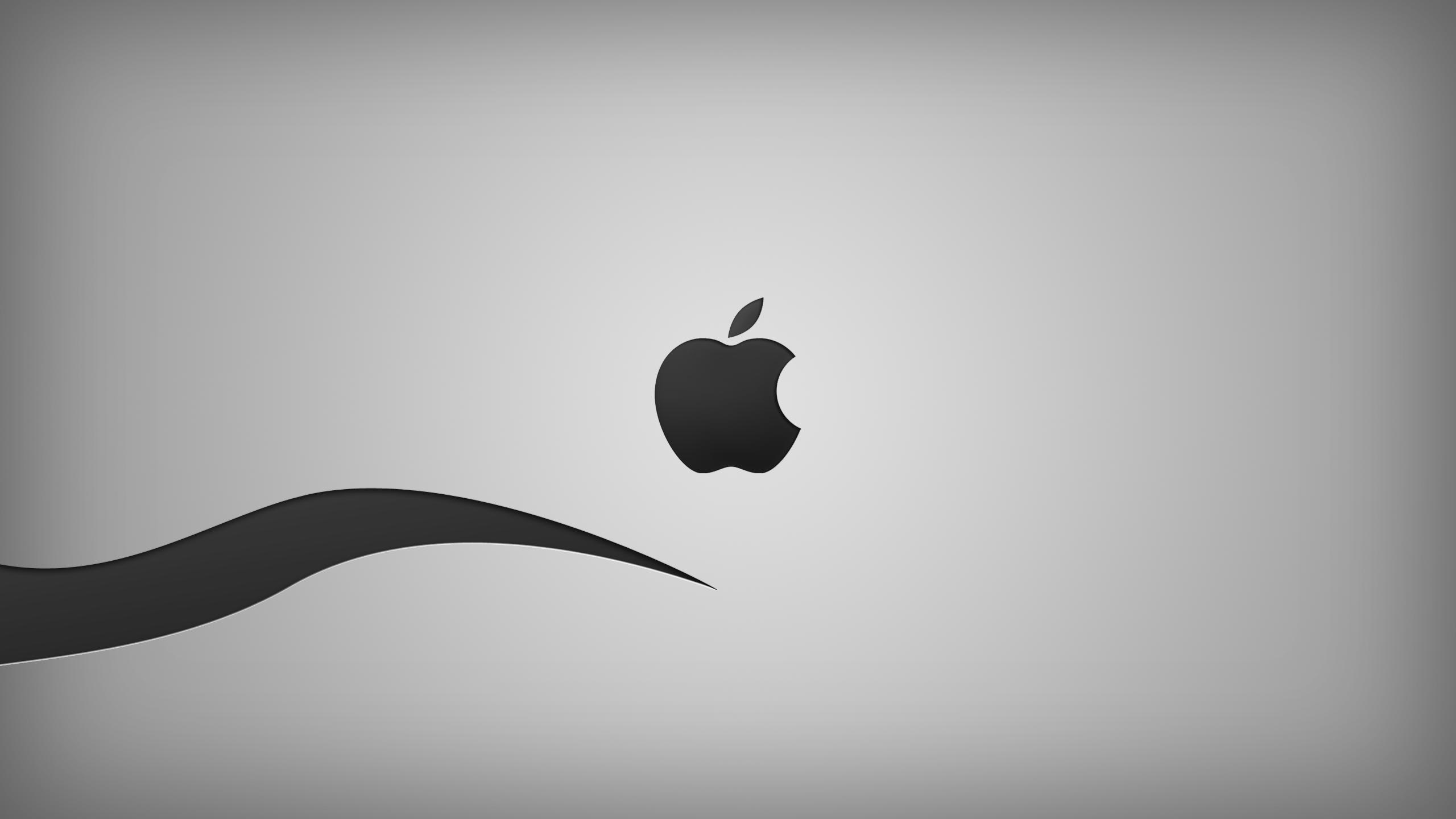 Black And White Apple Wallpaper 2560x1440