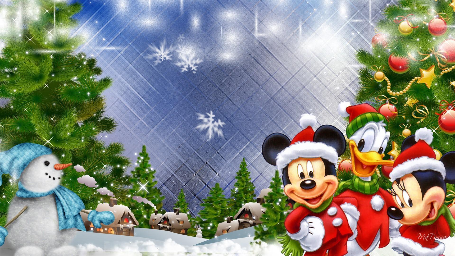 Free Download Mickeys Kerst Dorp Hd Desktop Wallpaper