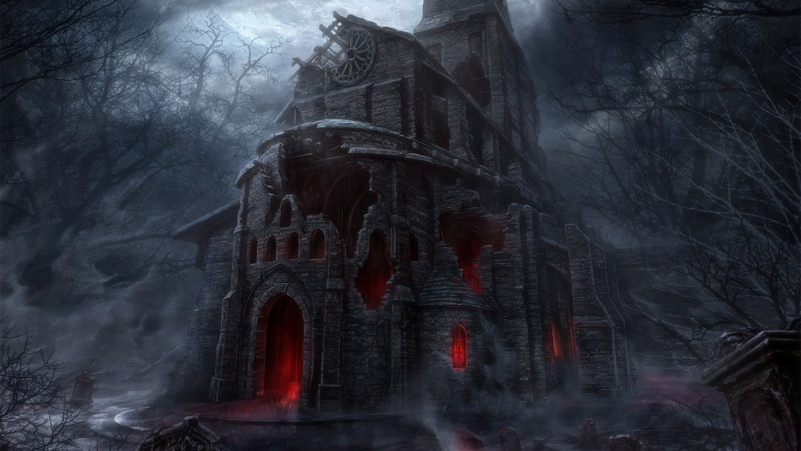 Medieval Church of Darkness Desktop Wallpapers and Backgrounds 1600x900