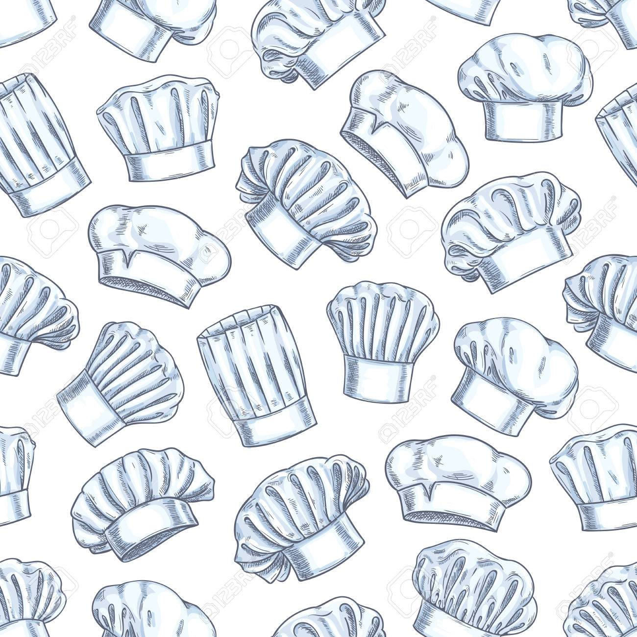 Chef Toques Seamless Background Wallpaper With Vector Pattern 1300x1300
