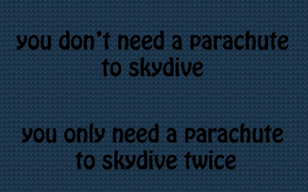 skydiving parachute joke Funny Wallpapers Desktop Wallpapers 600x375