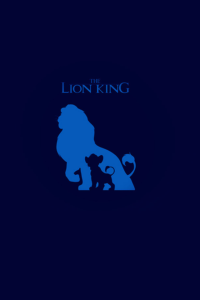 The Lion King Blue Minimal Art iPhone 4s Wallpaper Download iPhone 640x960