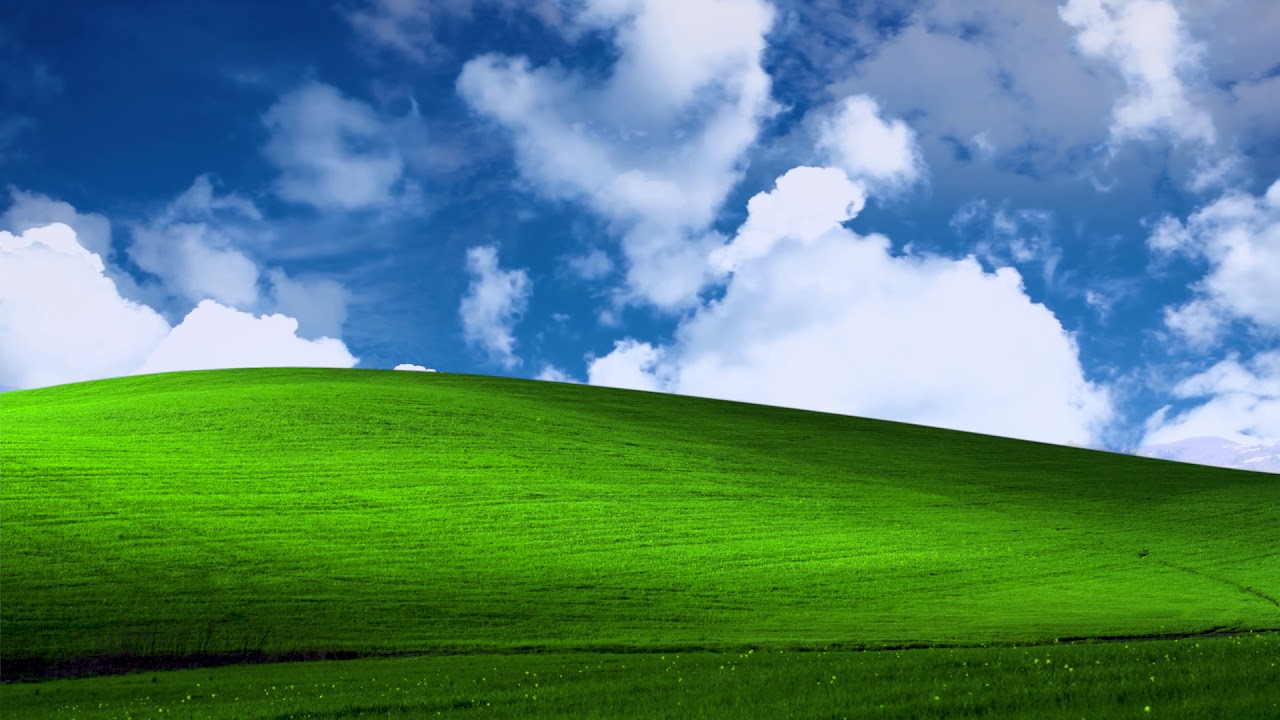 Microsoft Windows XP Bliss Wallpaper Animated 1280x720