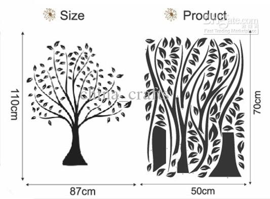 Wholesale Removable Tree Wall Stickers Wallpaper Wall Decal Living 533x392