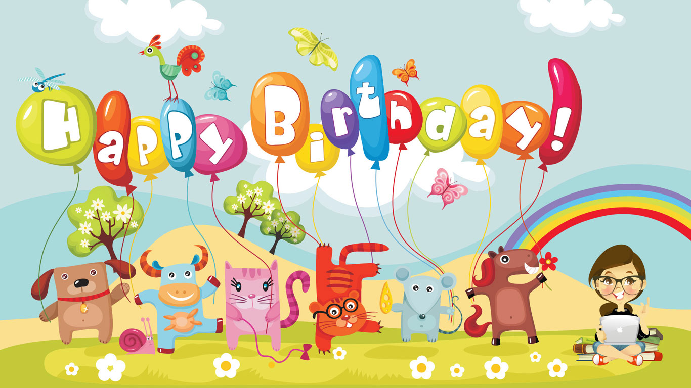 Free Download 60th Birthday Clip Art Women 1366x768 For