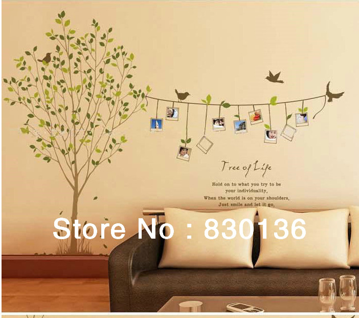 Cheap Cartoon Animal tree bird photo life PVC Wall Sticker Wall Decal 702x621