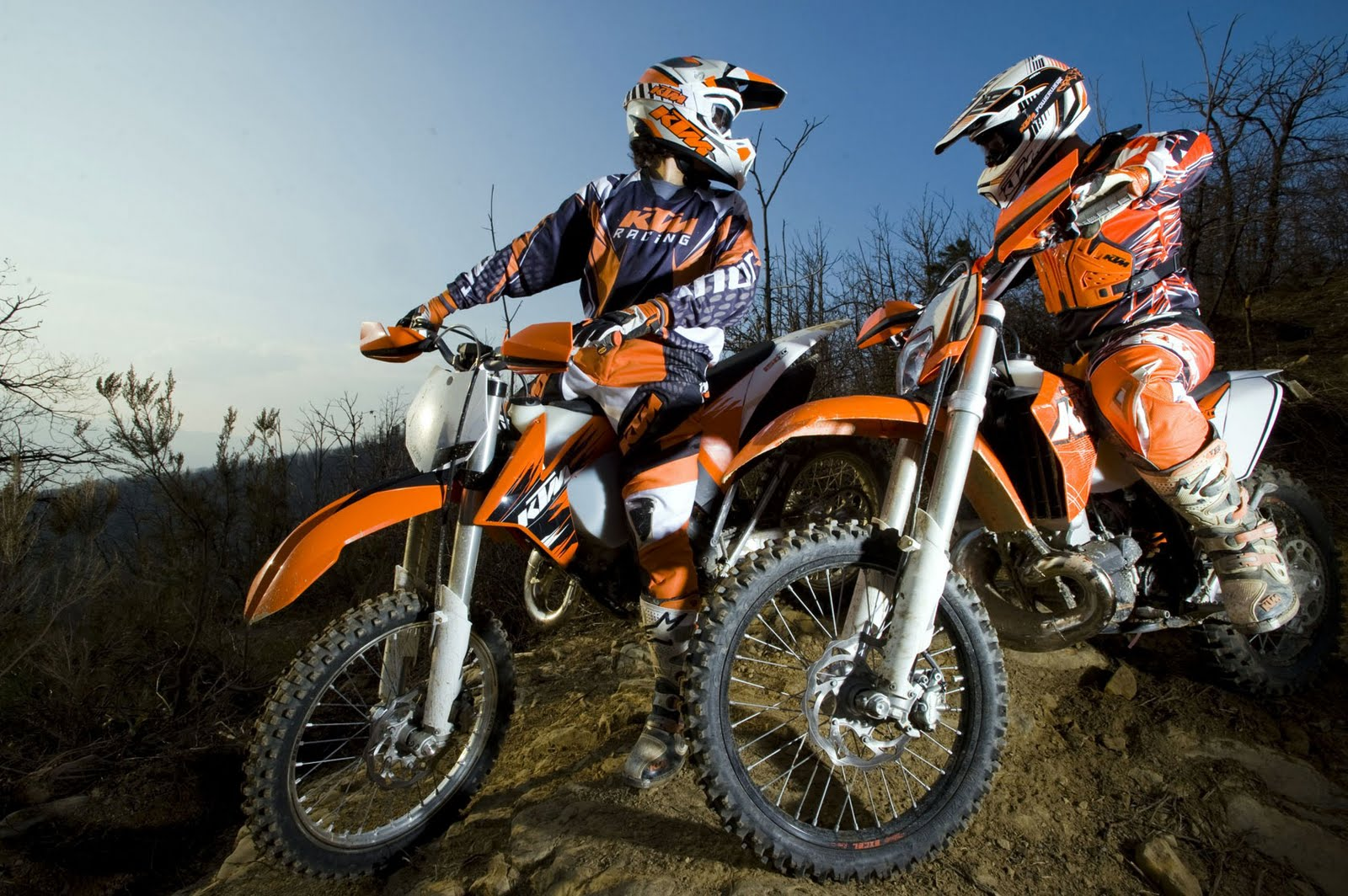 Group Of Ktm Supermoto Action Wallpaper