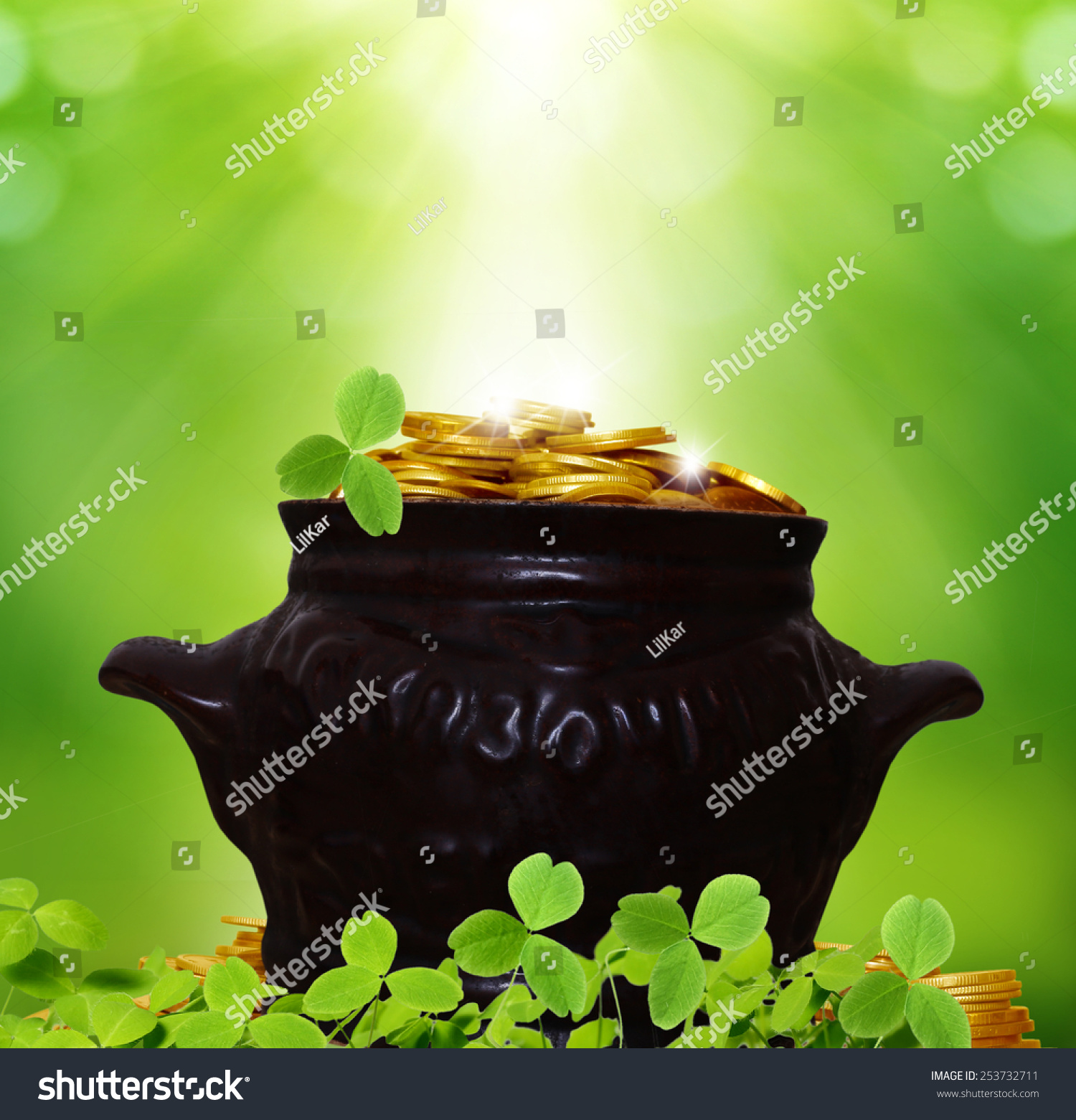 St Patricks Day Background Stock Photo 253732711 1500x1561
