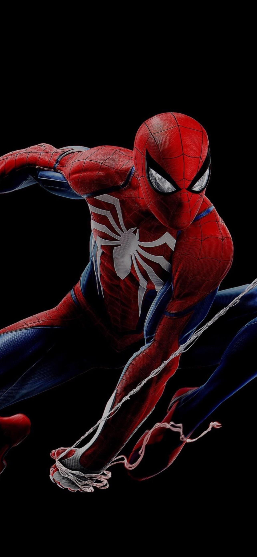 Download 1284x2778 Spider man Playstation 4 Jumping Superhero 1284x2778