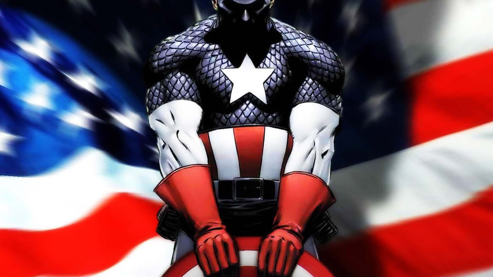 Captain America and american flag Desktop wallpapers 1920x1080 1920x1080
